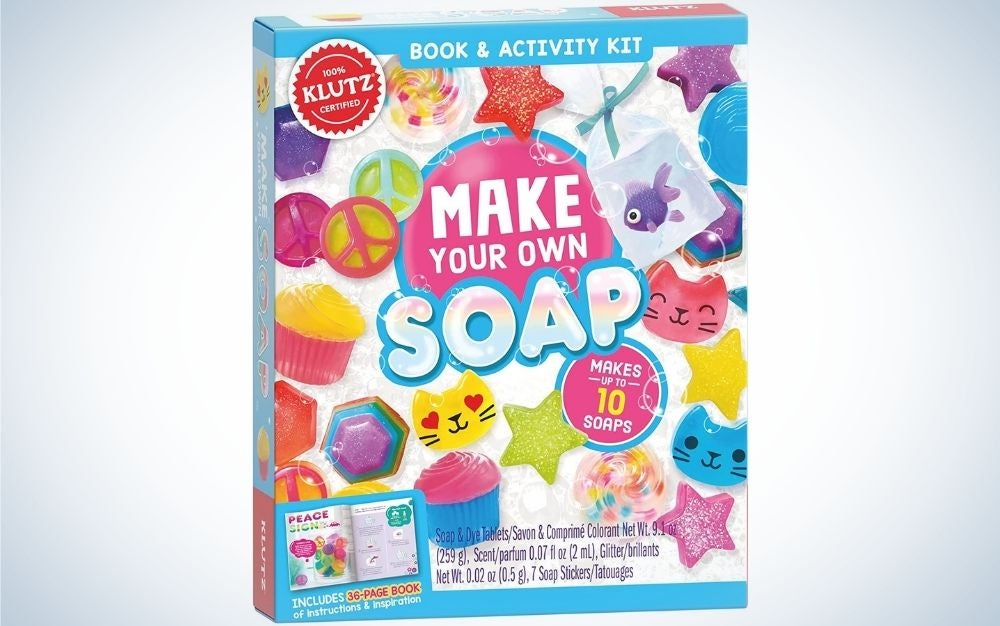 The Make Your Own Soap (Klutz Activity Kit) is the best educational soap making kit.
