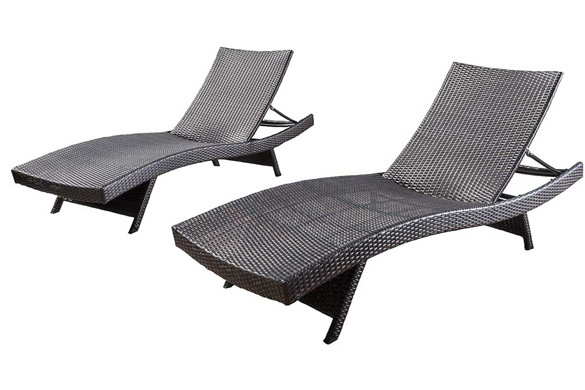 Christopher Knight Home Salem Outdoor Wicker Chaise Lounge Chairs