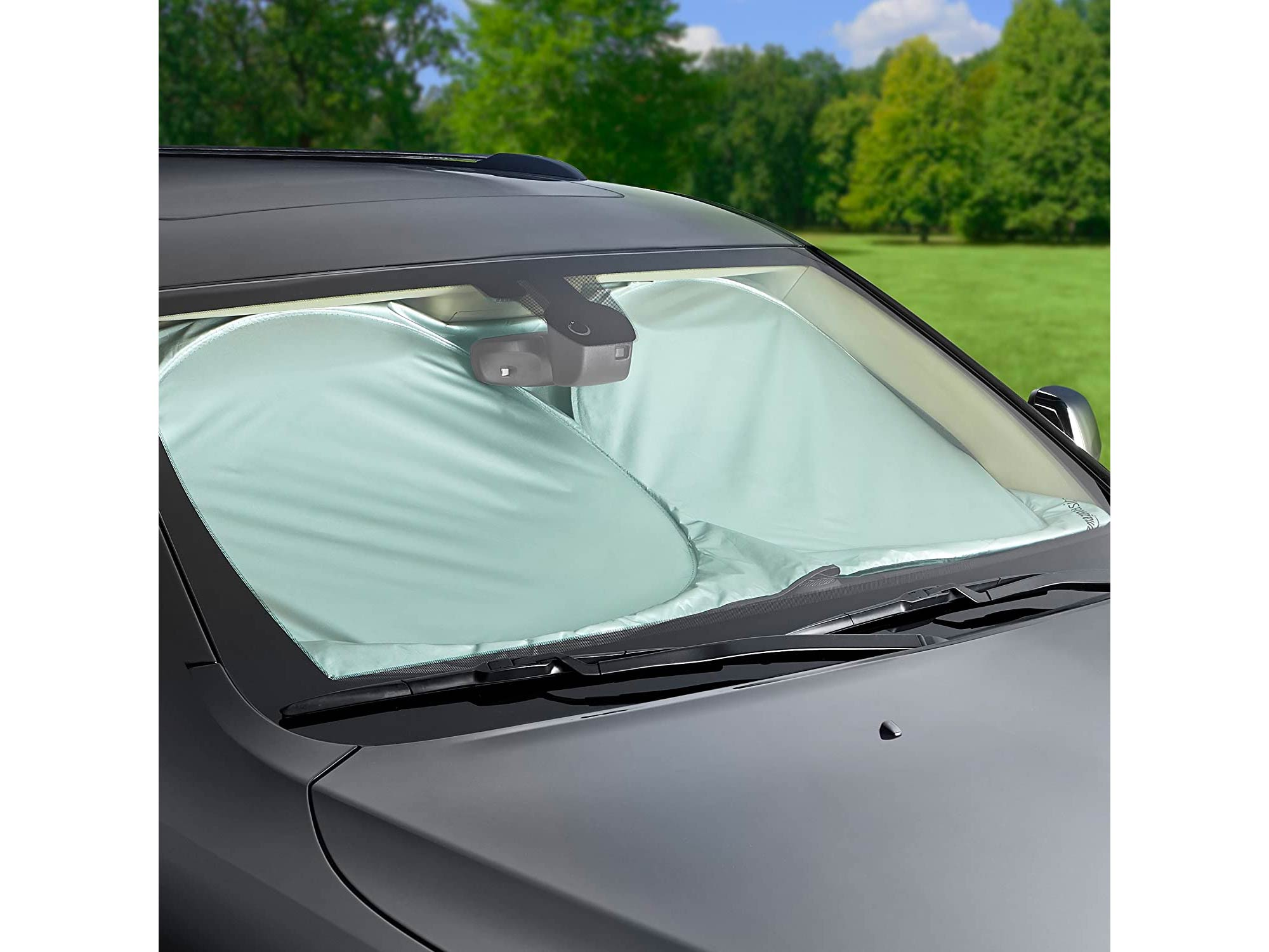 AmazonBasics Car Windshield Sun Shade, Medium