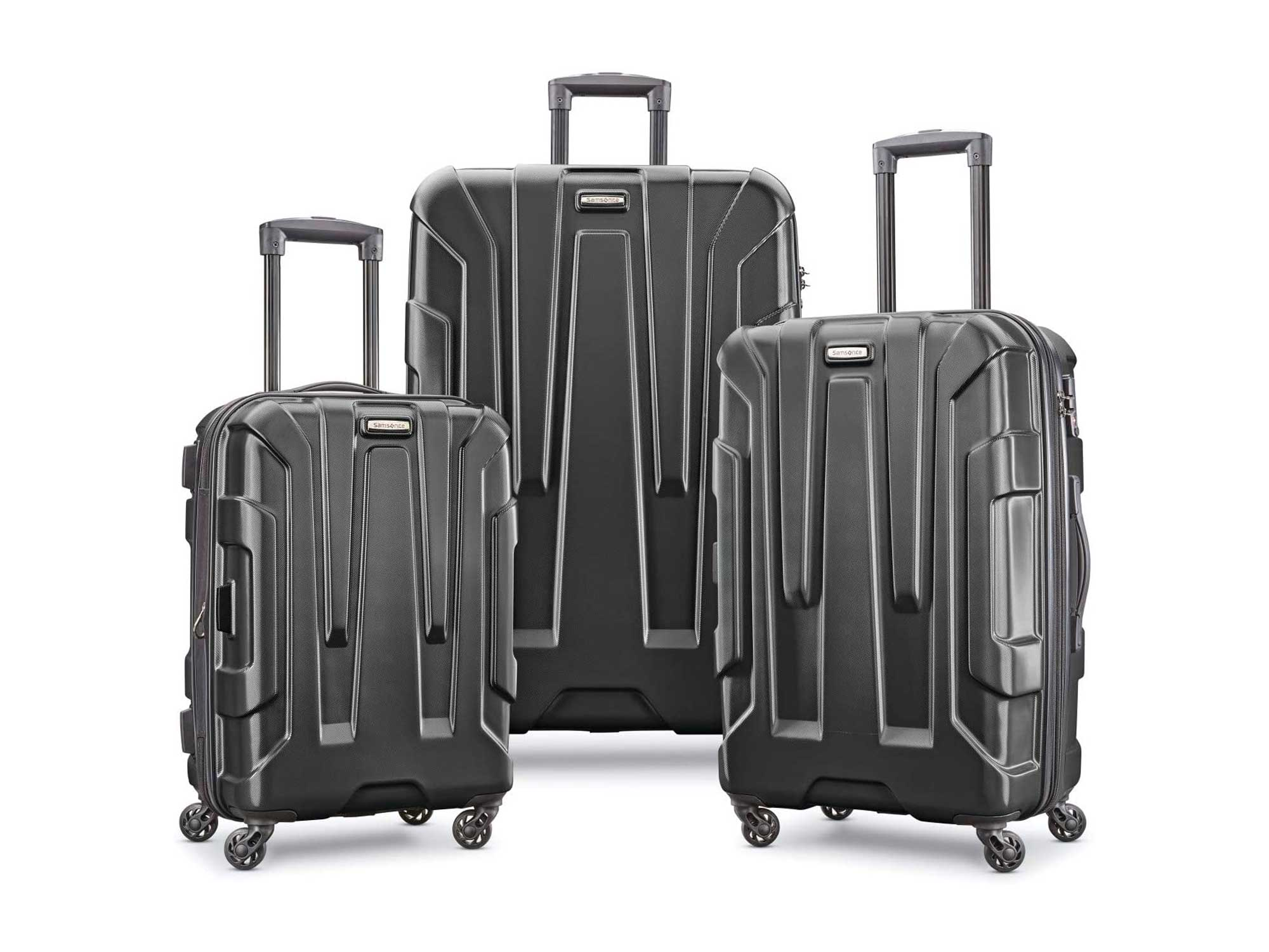Samsonite Centric Hardside Expandable Luggage with Spinner Wheels, Black, 3-Piece Set