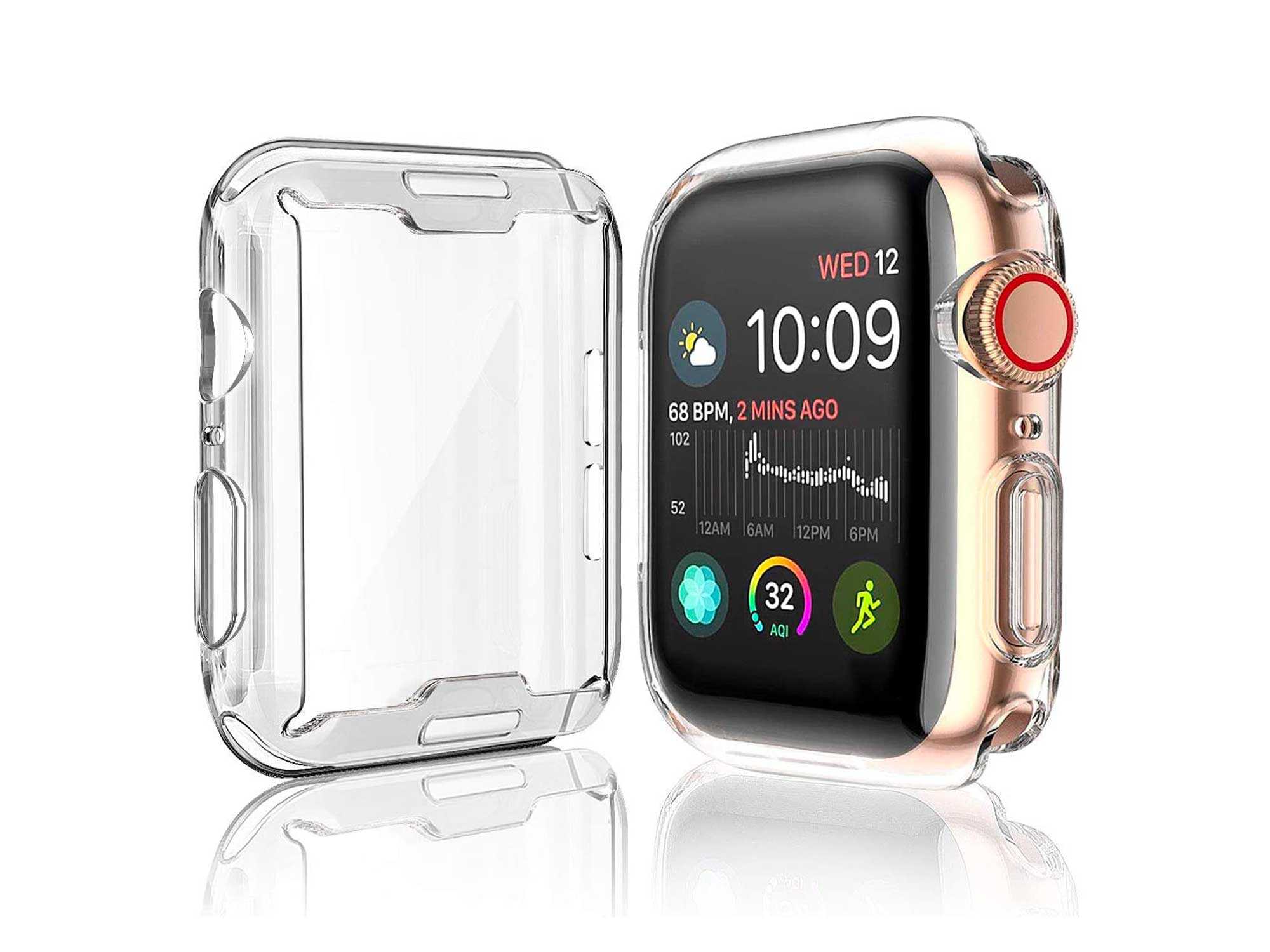Julk Case for Apple Watch Series 5 / Series 4 Screen Protector 40mm, 2019 New iWatch Overall Protective Case TPU HD Clear Ultra-Thin Cover for Series