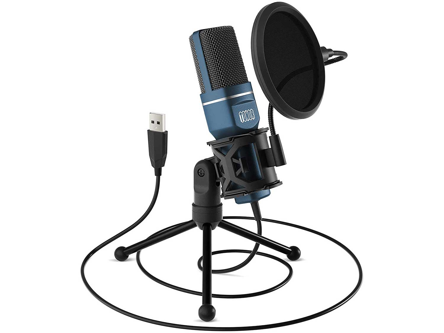 USB Gaming Microphone, TONOR Computer Condenser PC Mic with Tripod Stand & Pop Filter for Streaming, Podcasting, Vocal Recording, Compatible with iMac PC Laptop Desktop Windows Computer