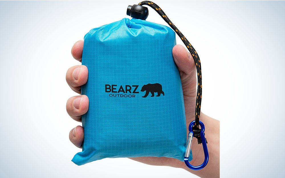 The BEARZ Outdoor Pocket Blanket Picnic Mat is the best for travel.