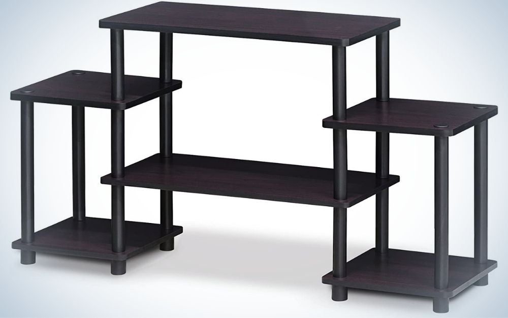 The Furinno Turn-N-Tube No Tools Entertainment Center is the best value.