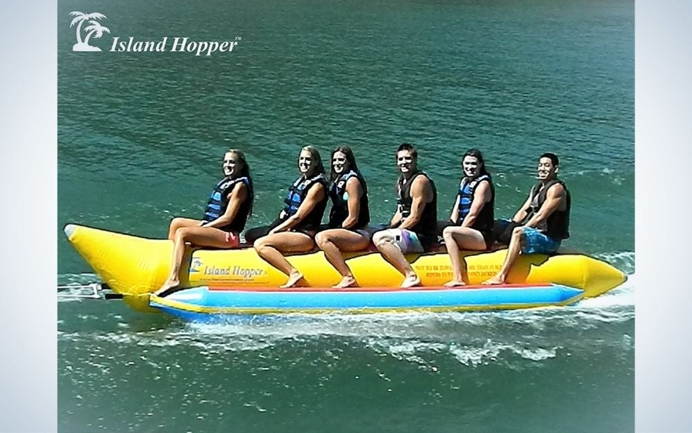 The Island Hopper Banana Boat Towable Tube is the best for multiple riders.