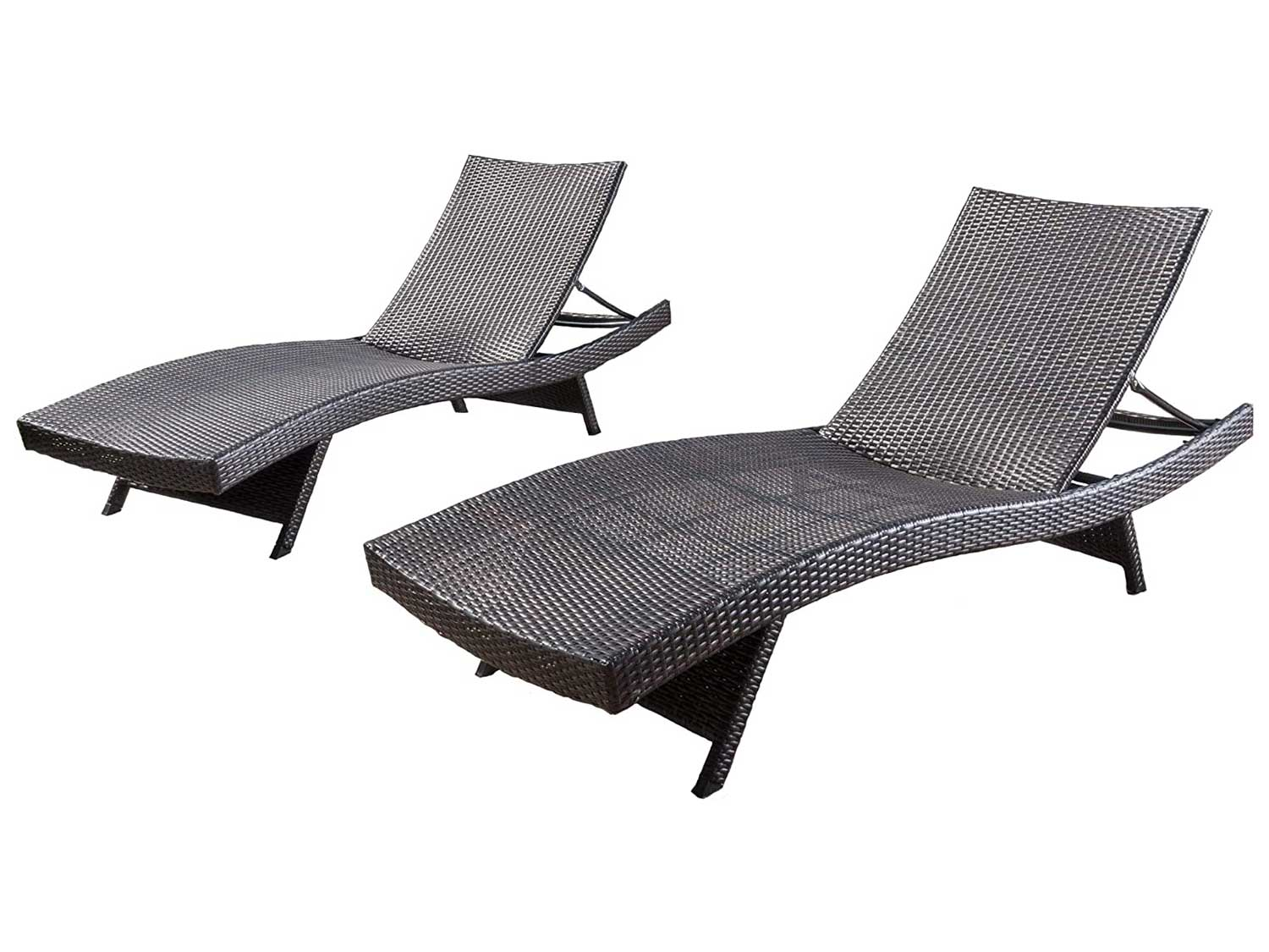 Christopher Knight Home Salem Outdoor Wicker Chaise Lounge Chairs, Brown - Set of 2