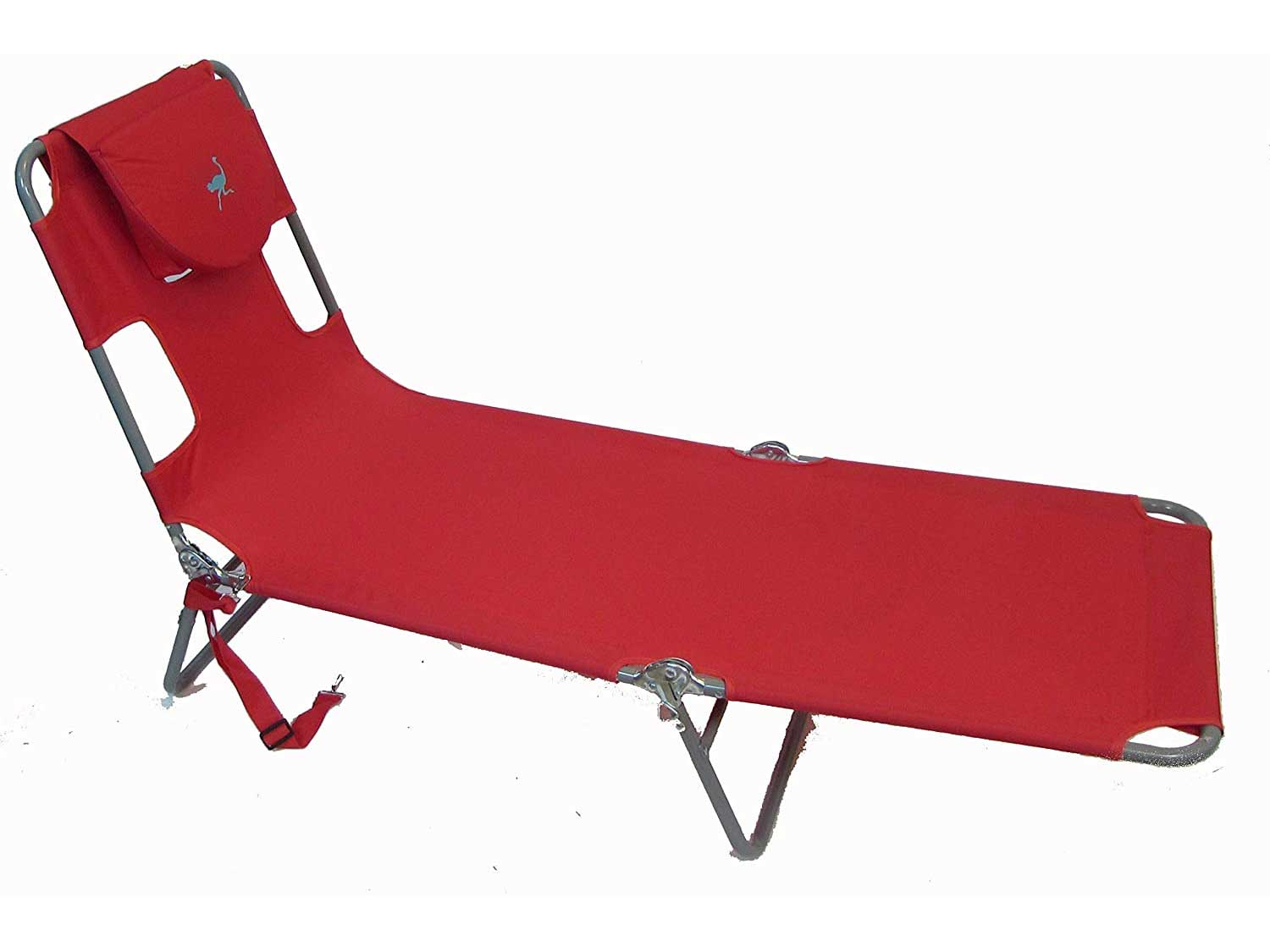 Ostrich Chaise Lounge, Red