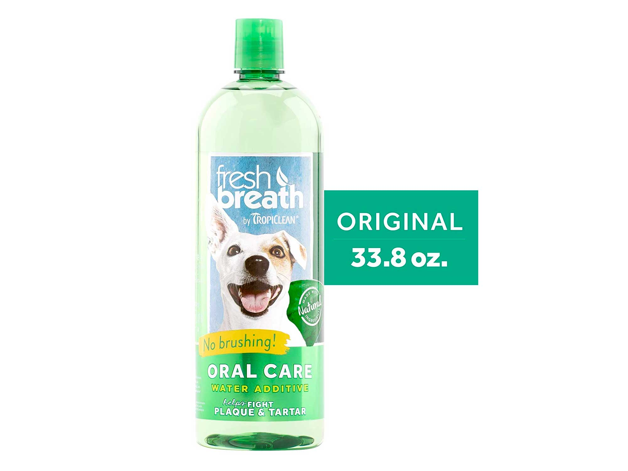 Fresh Breath by TropiClean Oral Care Water Additive for Pets, 33.8oz