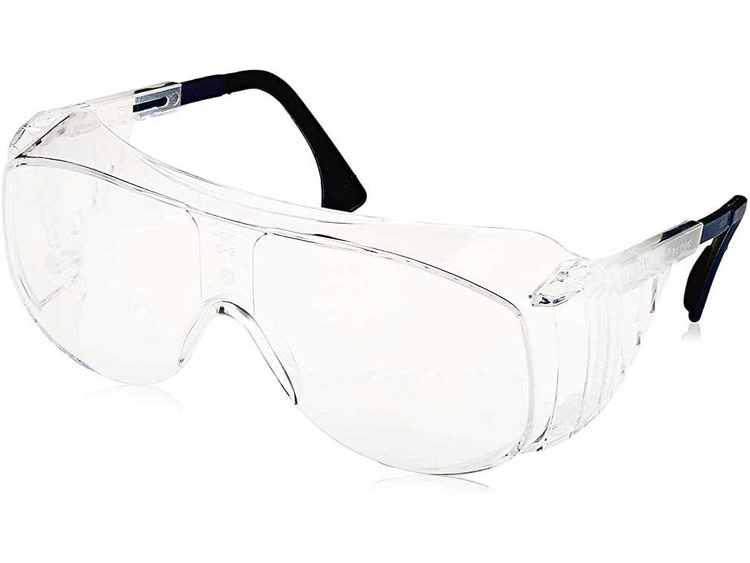 Uvex Ultra-Spec 2001 OTG (Over-the Glass) Visitor Specs Safety Glasses with Clear Ultra-Dura Anti-Scratch Lens