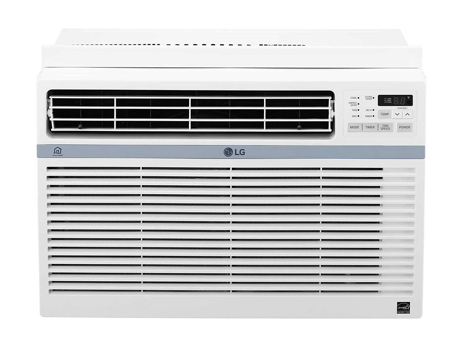 LG LW1017ERSM Energy Star 10,000 BTU Window Wi-Fi Air Conditioner, White
