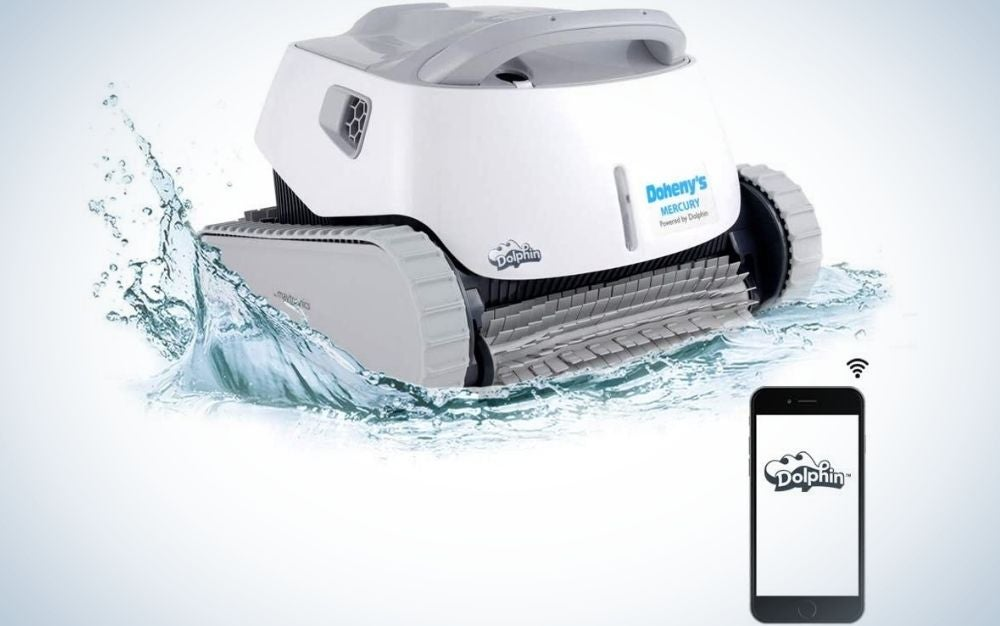 The Dolphin Mercury Automatic Robotic Pool Cleaner is the best wireless pool vacuum.