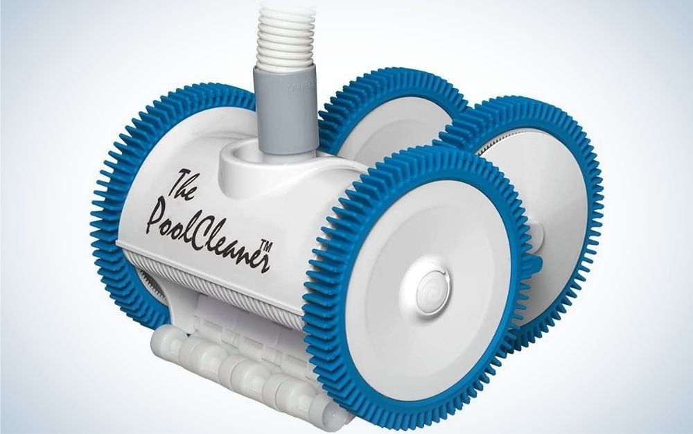 The Hayward Suction Pool Cleaner is the best for large pools.