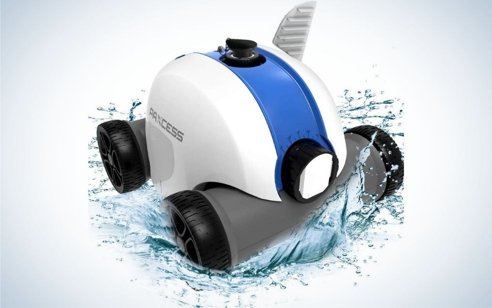 The Paxcess Cordless Automatic Pool Cleaner is the best cordless pool vacuum.