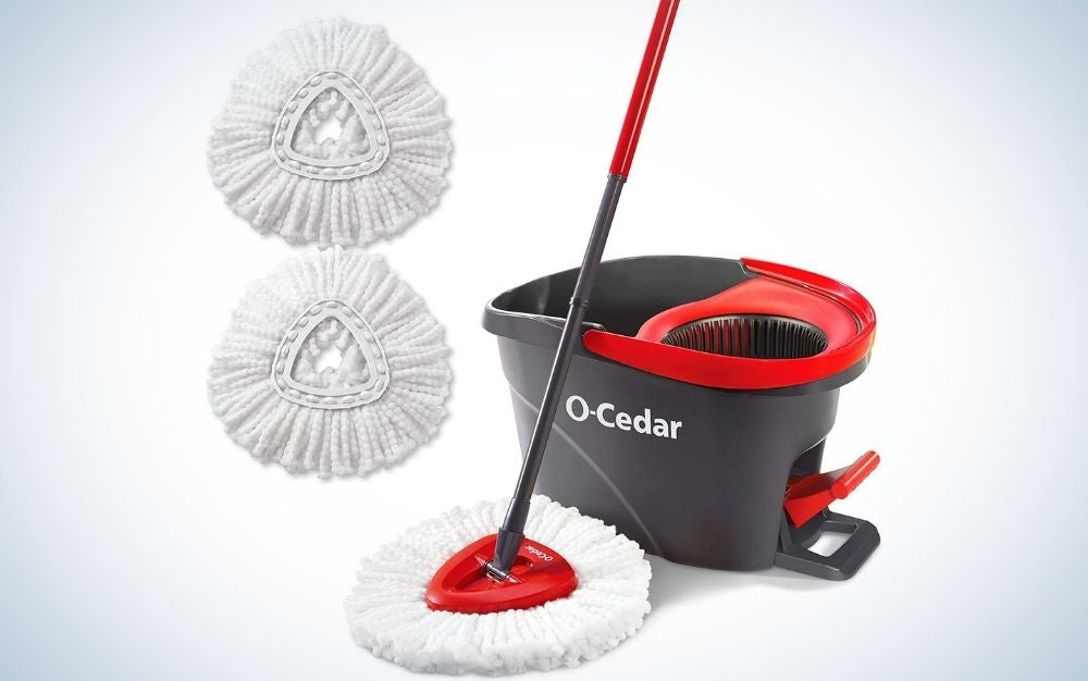 The O-Cedar EasyWring Microfiber Spin Mop & Bucket is the best overall.
