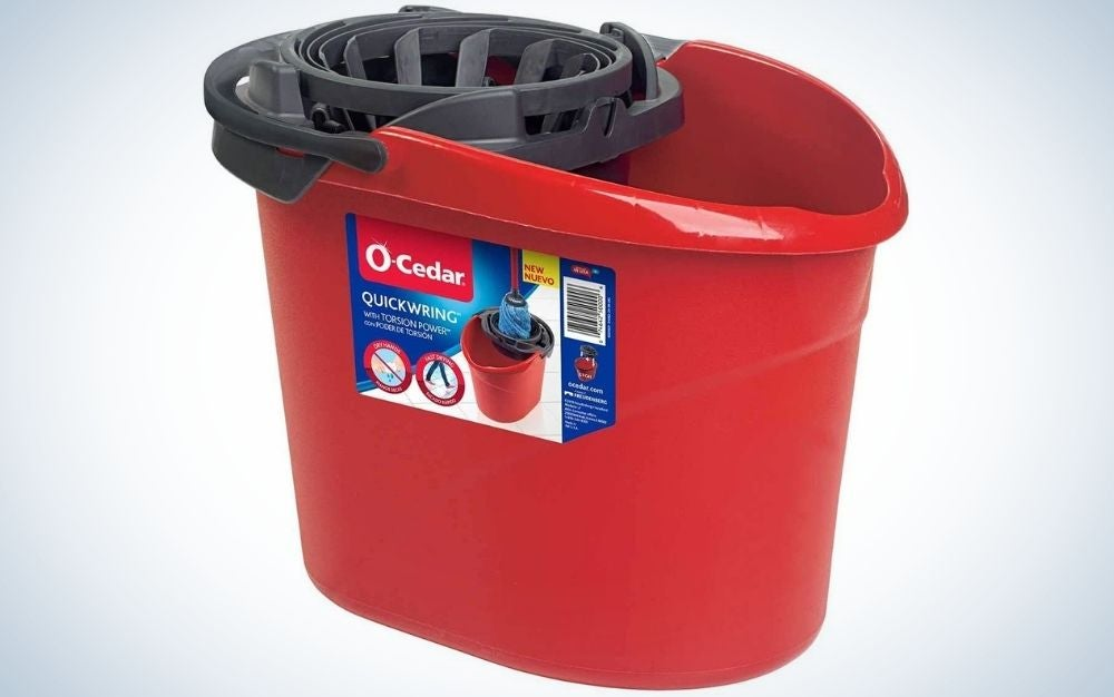 The O-Cedar Quick Wring Bucket is the best value.