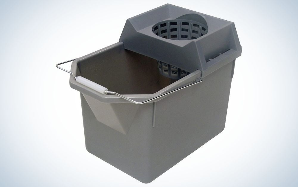 The Rubbermaid Commercial Products 15-Quart Mop Bucket is the best commercial-grade mop bucket.