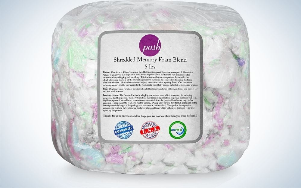 The Posh Creations Multi-Color Foam Filling Bean Bag Refill has the best colors.