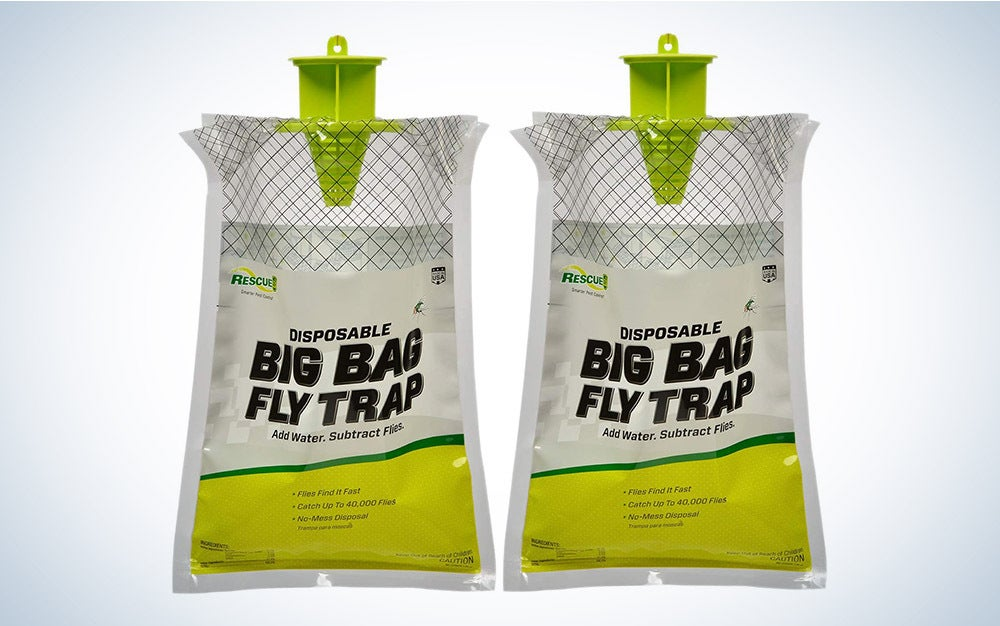 The Rescue! Big Bag Fly Trap is our pick for the best overall fly trap on Amazon.
