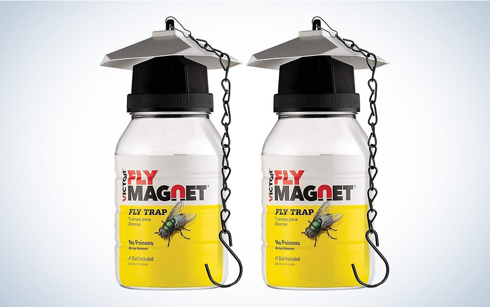The Sewanta Victor M380 Reusable Outdoor Fly Traps are our pick for the best reusable fly traps on Amazon.