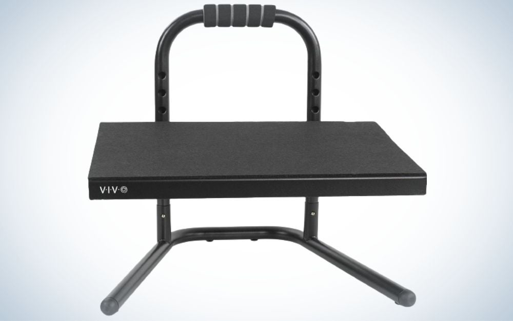This VIVO foot rest is the best adjustable model for sitting and standing.