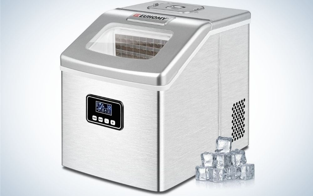 The Euhomy Countertop Ice Maker is the best self-cleaning option.