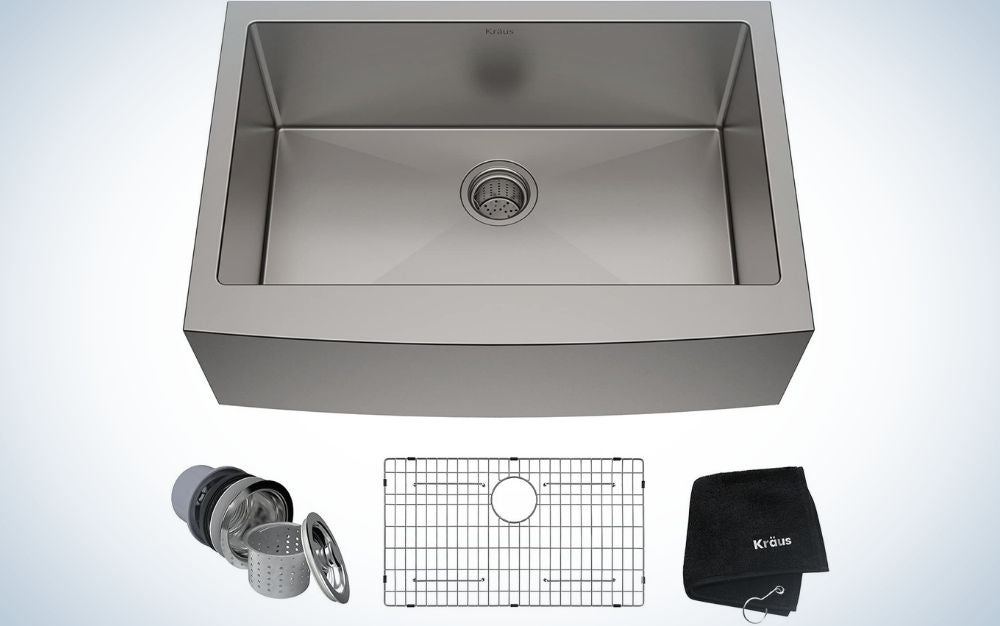 The Kraus Standart Pro is the best stainless steel farmhouse sink.