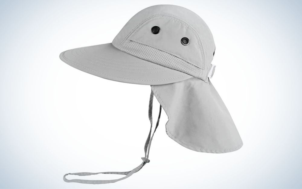 This child's hat from Camptrance provides the best sun coverage.