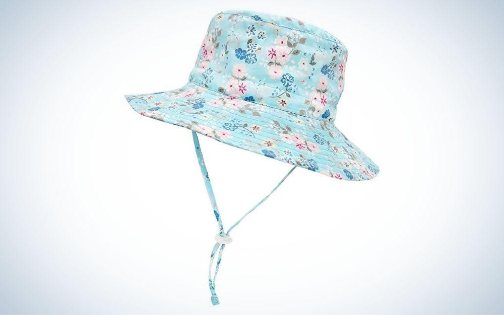 The Sarfel Baby Sun Hat is the best kids sun hats for patterns.
