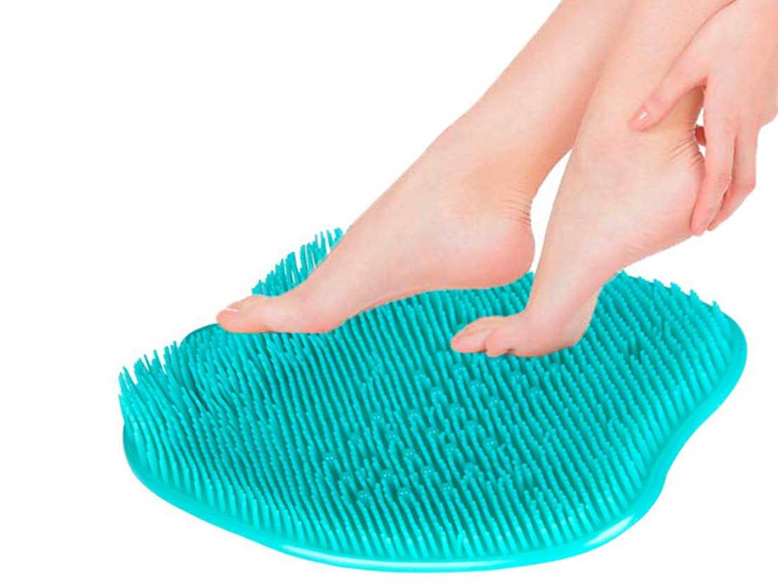 Shower Foot Scrubber Massager Cleaner, Acupressure Mat with Non-Slip Suction Cups, Improve Circulation,Exfoliation, Acupressure Massage Mat, Foot Cleanerand Reduce Feet Pain