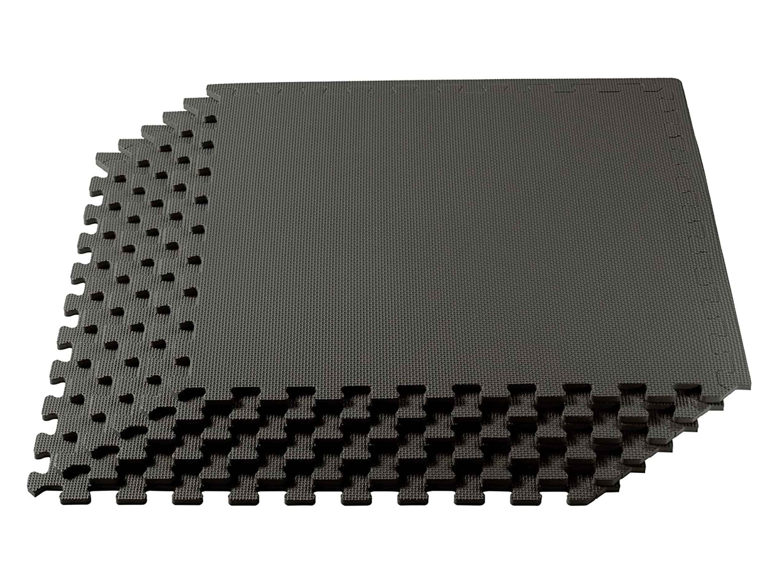 We Sell Mats 3/8 Inch Thick Multipurpose Exercise Floor Mat with EVA Foam, Interlocking Tiles, Anti-Fatigue for Home or Gym