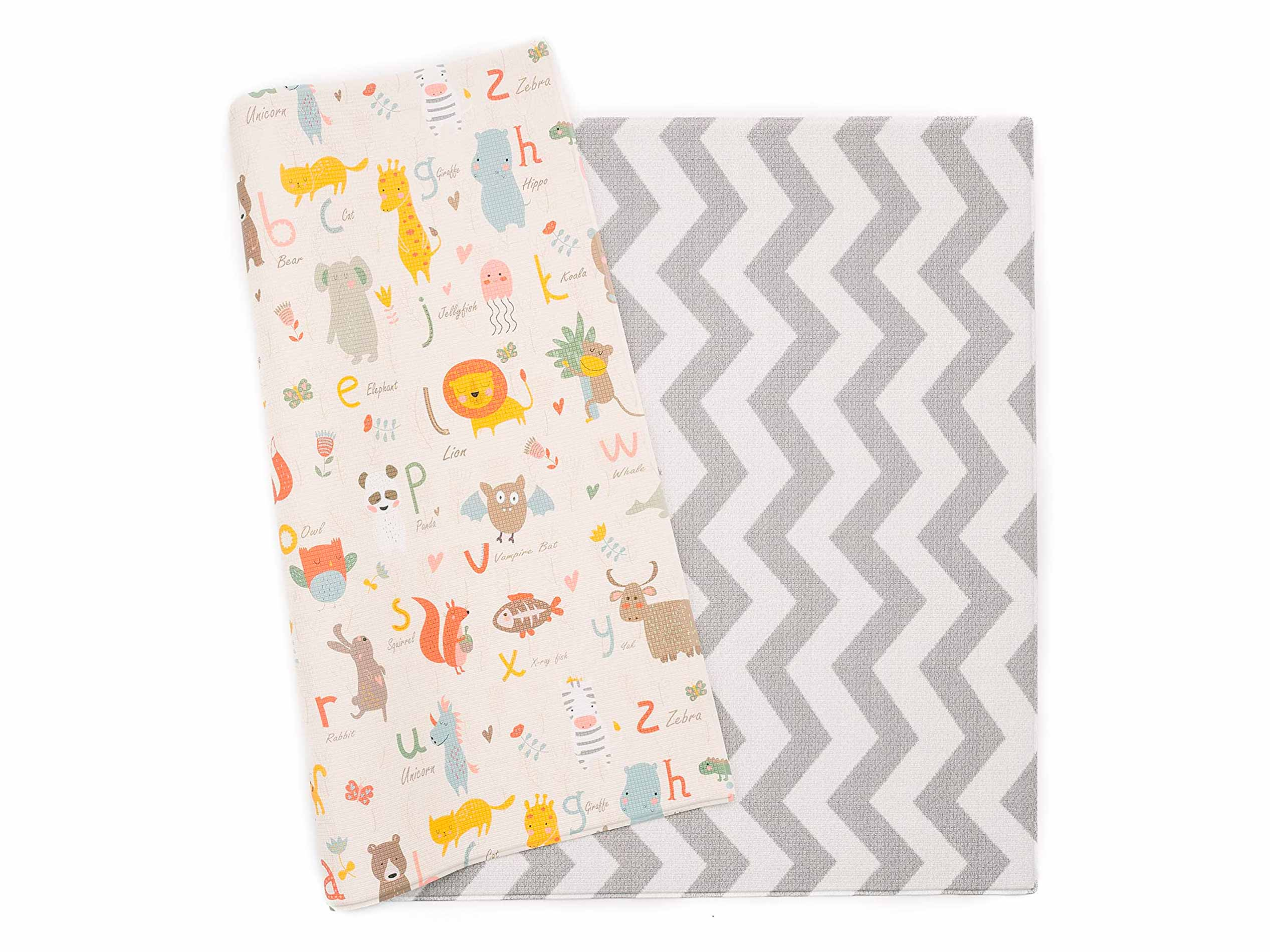 Baby Care Play Mat - Haute Collection (Large, Zig Zag - Grey) - Non-Toxic Foam Baby mats for Tummy time, Playing, and More