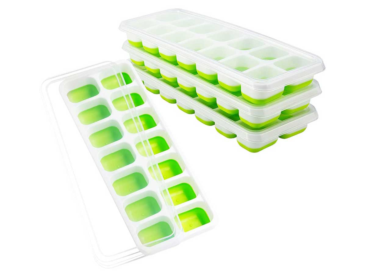 OMorc Ice Cube Trays 4 Pack, Easy-Release Silicone