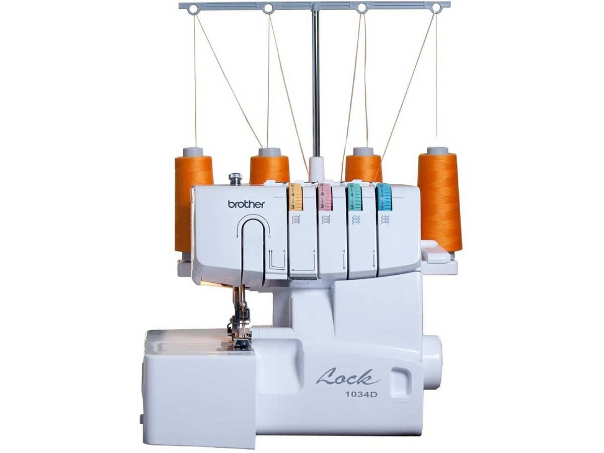 Brother 1034D Serger, Heavy-Duty Metal Frame Overlock Machine
