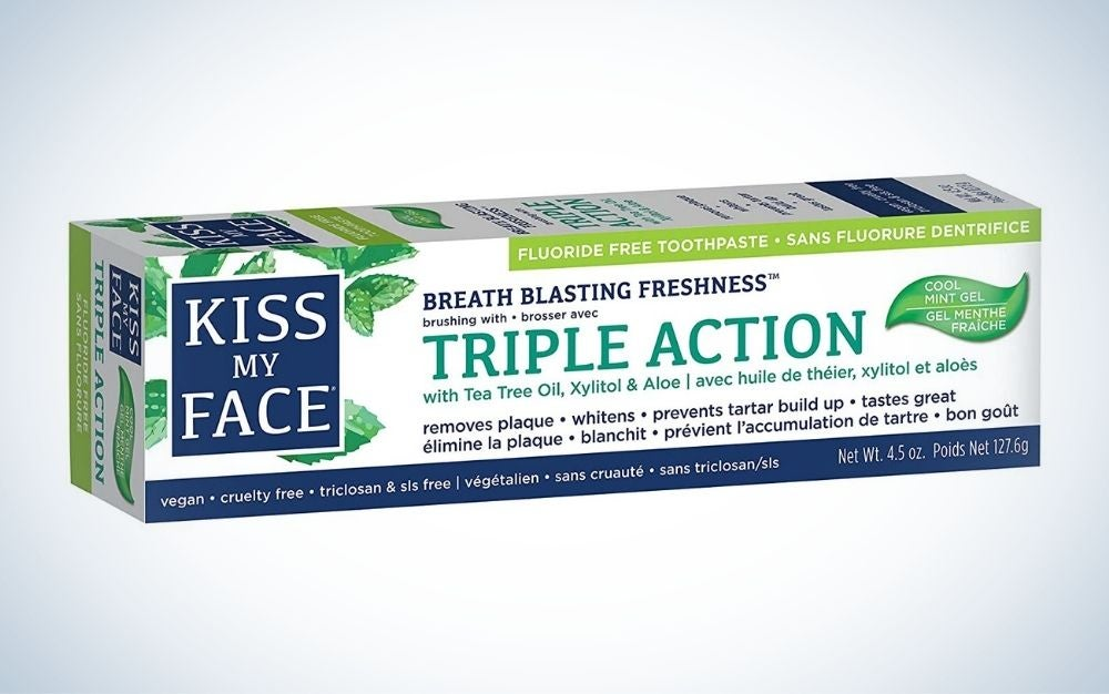 Kiss My Face Triple Action Gel Toothpaste is the best overall natural toothpaste.