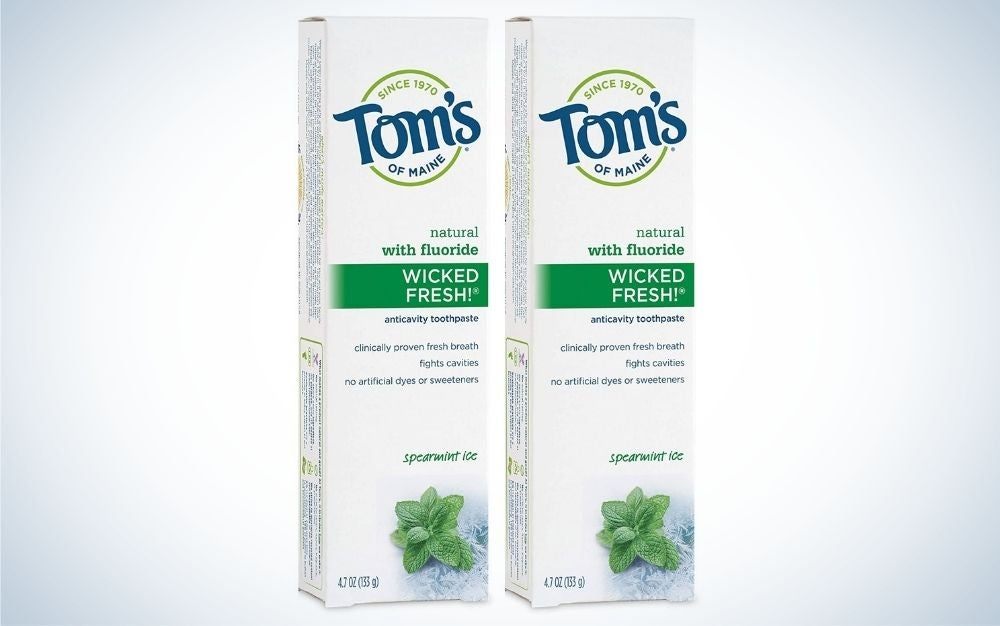 Tom's of Maine Natural Wicked Fresh Fluoride Toothpaste is a best value.