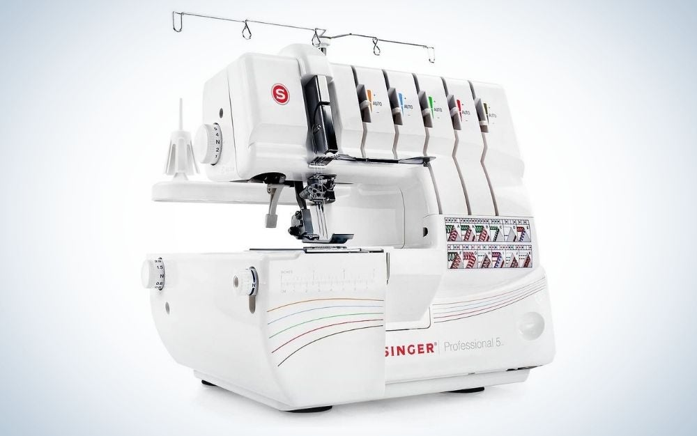 The SINGER Professional 14T968DC Serger Overlock is the best professional sewing machine for home use.