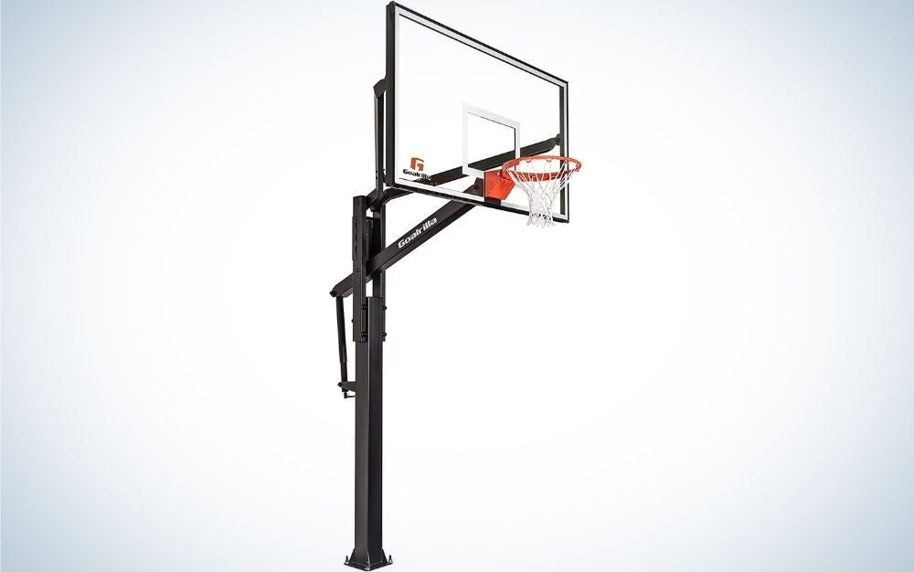 The Goalrilla FT Series Basketball Hoops with Tempered Glass Basketball Backboard is the best pro-style basketball hoop.
