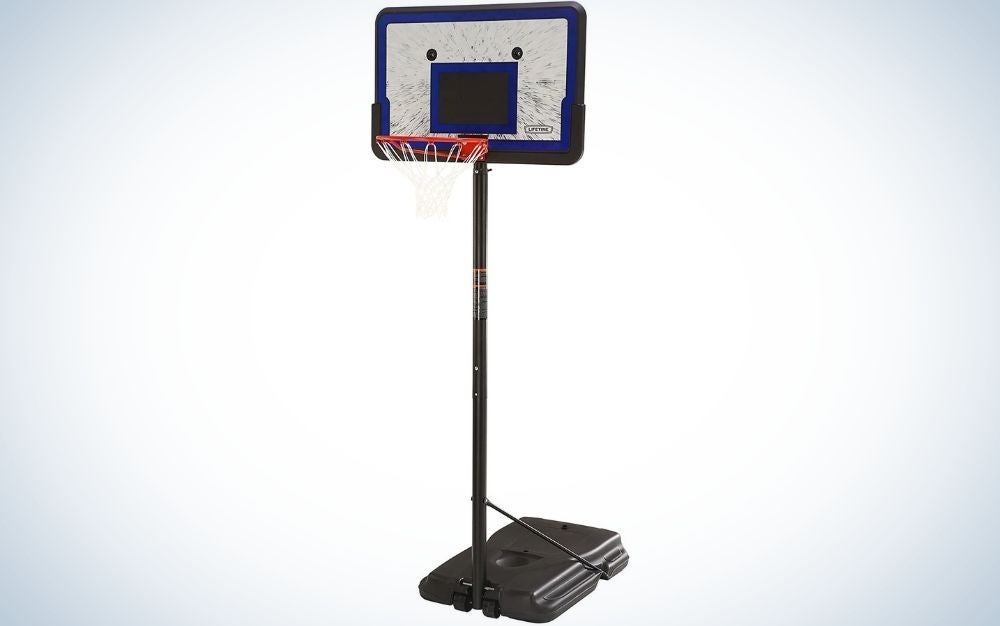 The Lifetime Height Adjustable Portable Basketball System is the best value.