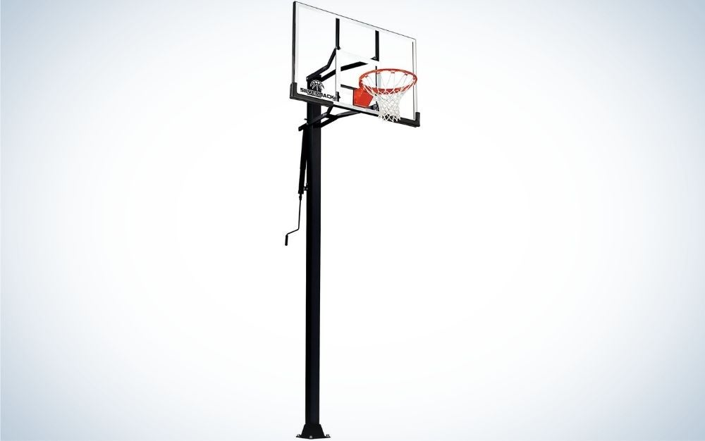 The Silverback In-Ground Basketball Hoops, Adjustable Height Tempered Glass Basketball Goal is the best overall basketball hoop.