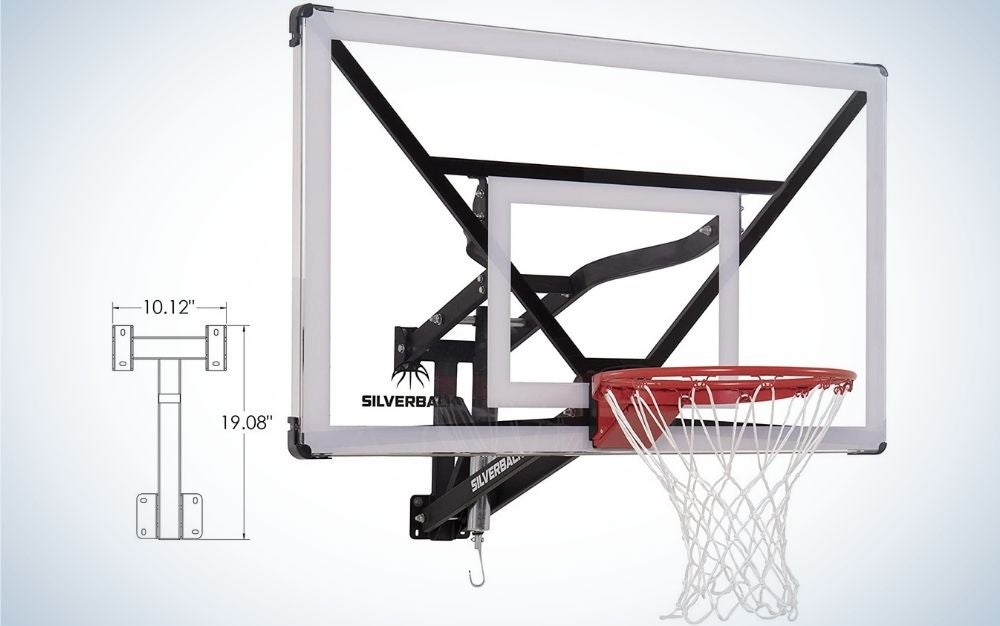 """The Silverback NXT 54"""" Wall-Mounted Adjustable-Height Basketball Hoop is the best wall-mounted basketball hoop."""
