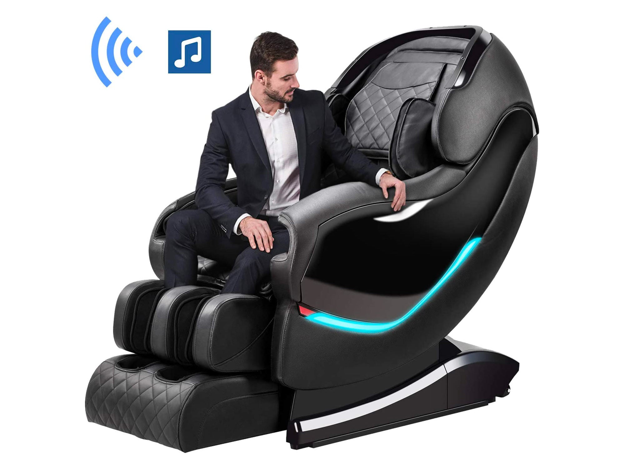 OOTORI Cyber Monday Deals 2020 New Massage Chair, Zero Gravity & Shiatsu Function Chair, Full Body Massage Recliner with Lower-Back Heating / Foot Roller