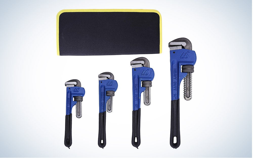 KOTTO 4 Pack Set Heavy Duty Pipe Wrench is the best overall.