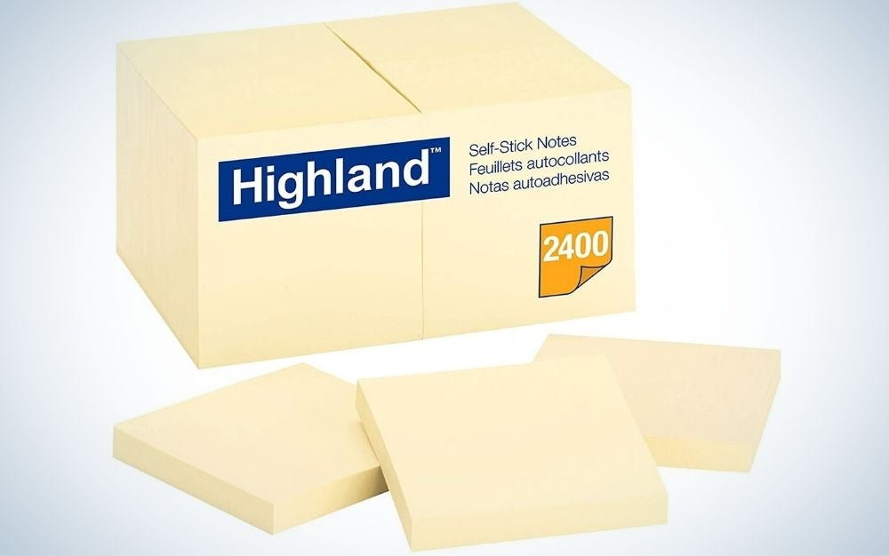 Highland Sticky Notes are the best value.