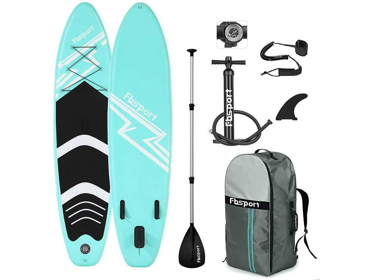 Premium Inflatable Stand Up Paddle Board (6 inches Thick) with Durable SUP Accessories & Carry Bag