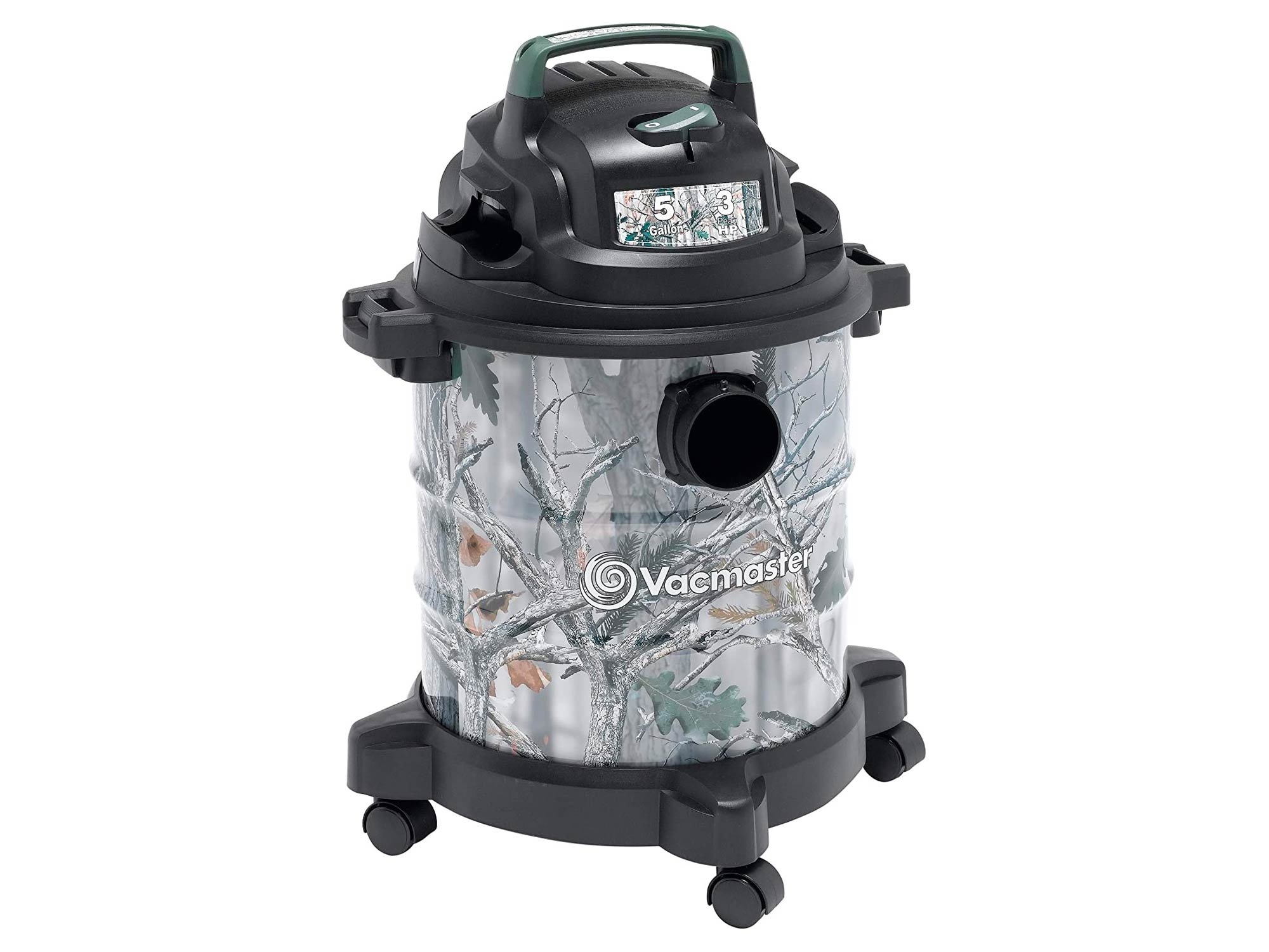Vacmaster, 5 Gallon 3 Peak HP Stainless Steel Game Trail Camo Wet/Dry Shop Vacuum