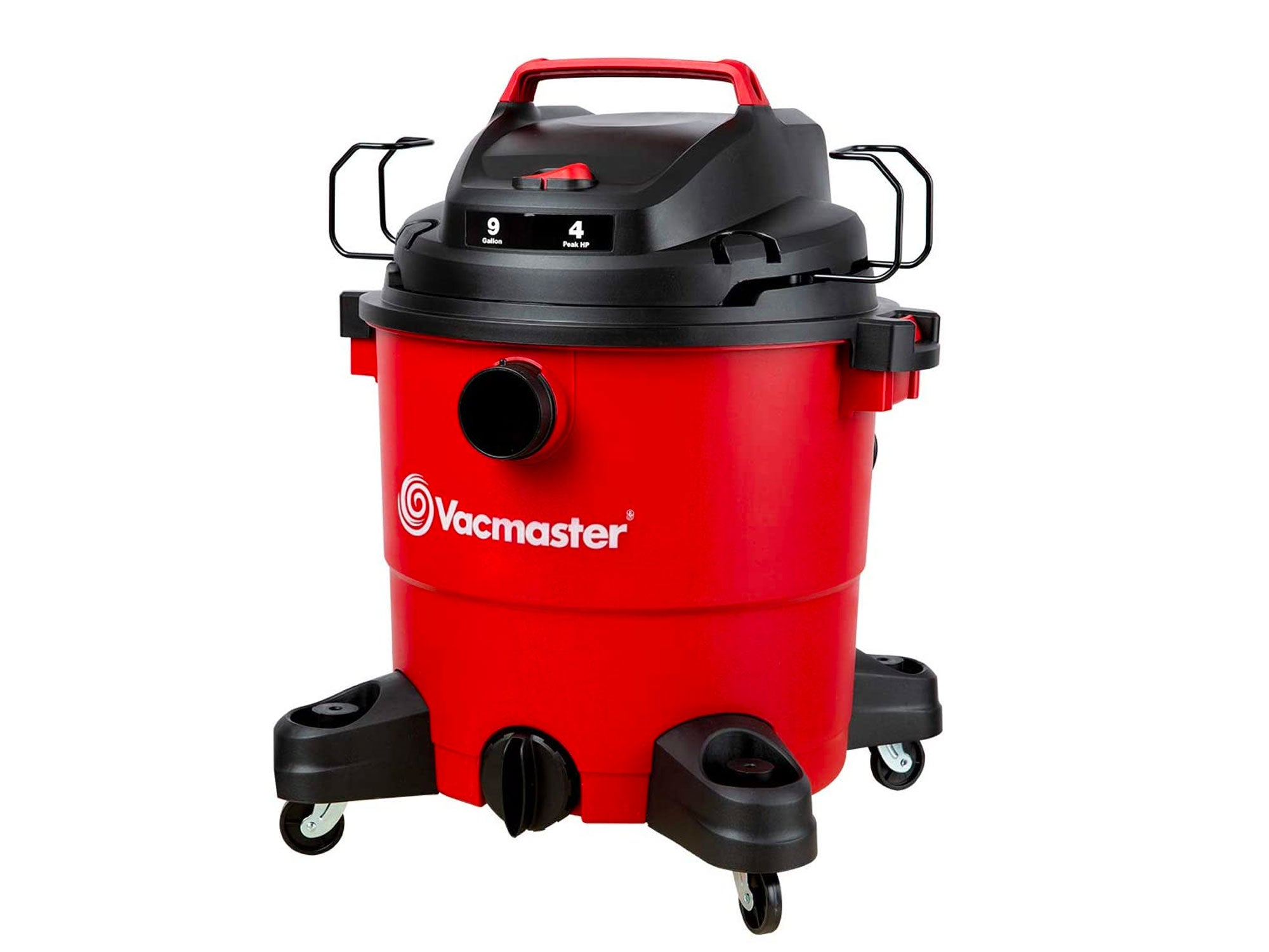 Vacmaster Red Edition Portable Wet Dry Shop Vacuum 9 Gallon 4 Peak HP 1-7/8 inch Hose