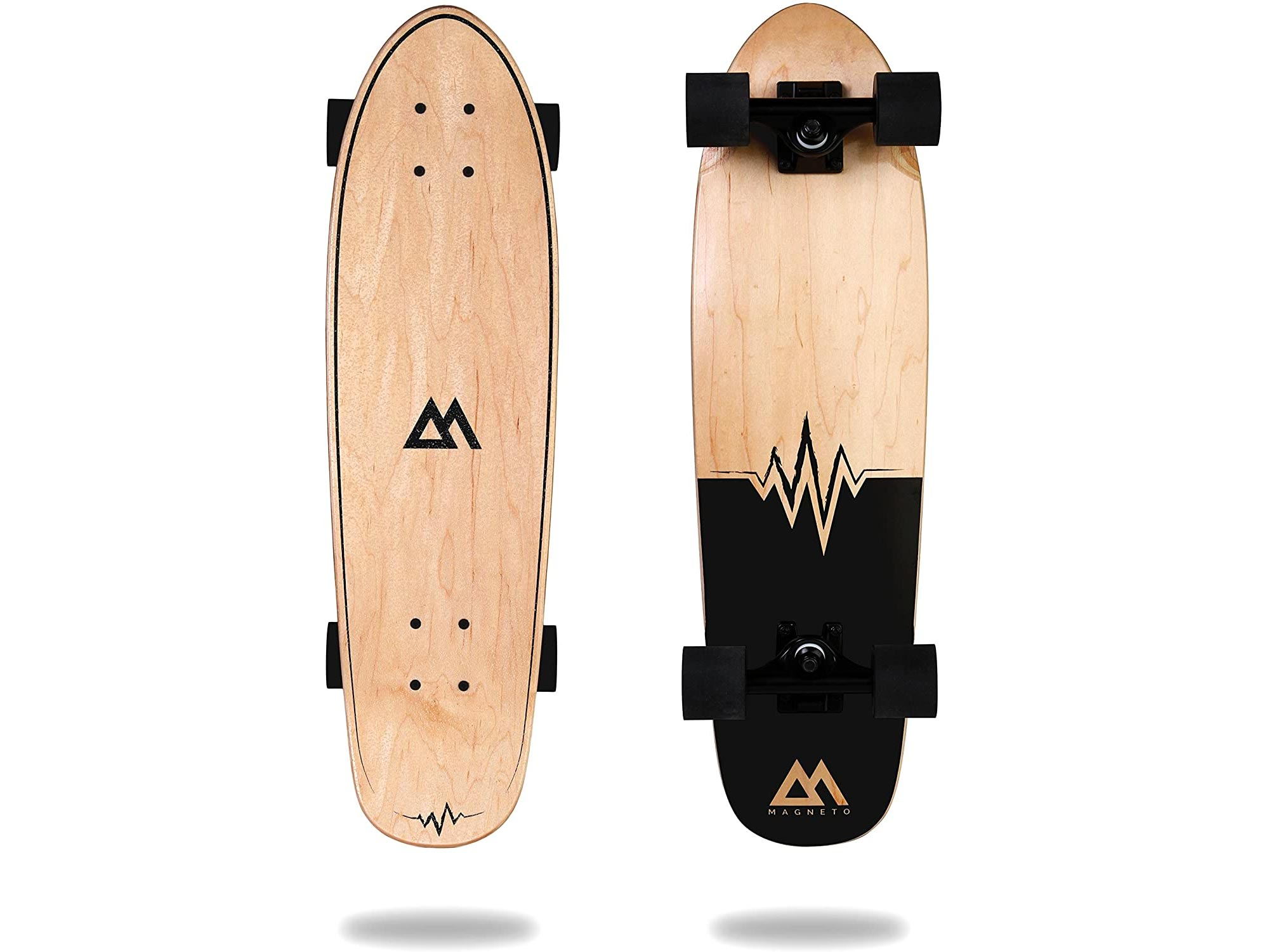 Magneto Mini Cruiser Skateboard Cruiser | Short Board | Canadian Maple Deck - Designed for Kids, Teens and Adults