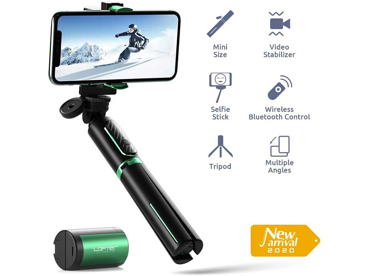 Lofter Gimbal Stabilizer for Phone, Selfie Stick Tripod Gimbal 3 in 1 Extendable with Wireless Remote, Auto Balance Stabilizer for Smartphone and GoPro, TikTok Vlogging Live Stream Accessories