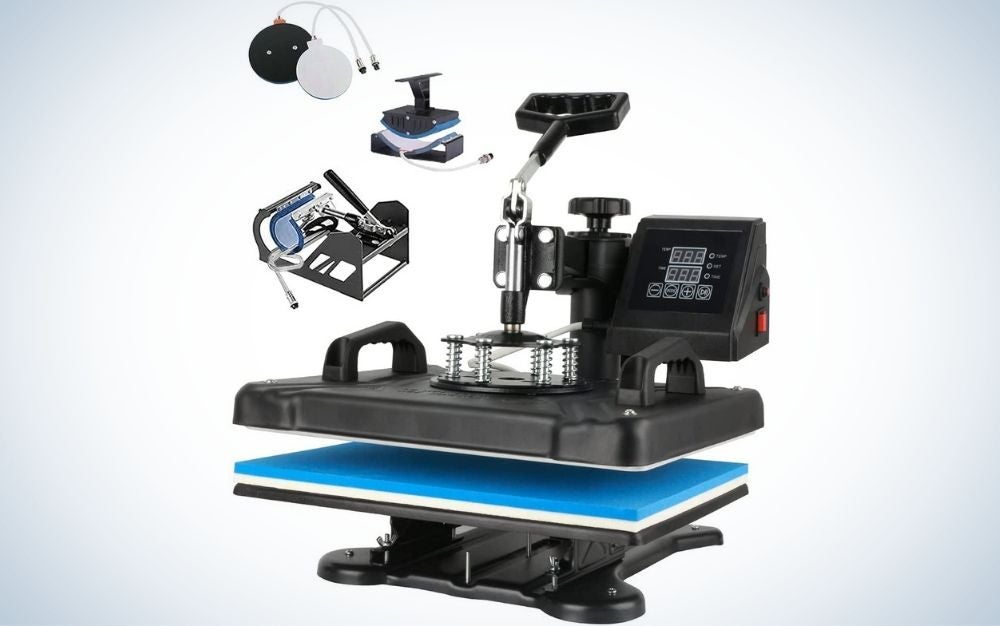 The SURPCOS Heat Press Machine for T-Shirts has the best safety features.