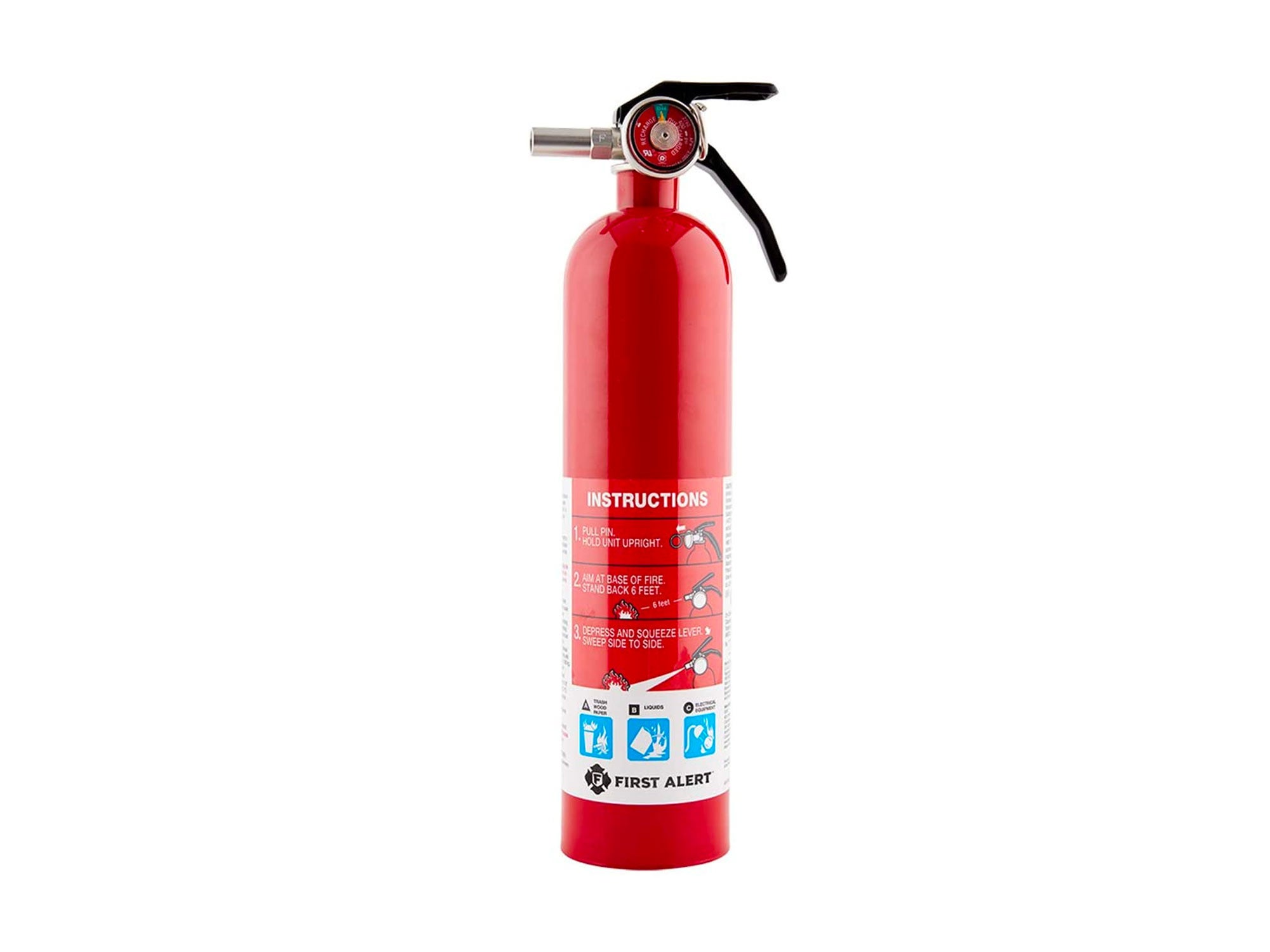 First Alert Standard Home Fire Extinguisher, Red
